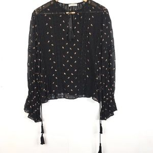 Ulla Johnson Long Sleeve Embroidered Floral Blouse